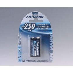 Ansmann 9 volt block 250 mAh blister 1