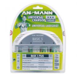 Ansmann Basic 5 Plus Universeellader voor AA/AAA/C/D en 9V.
