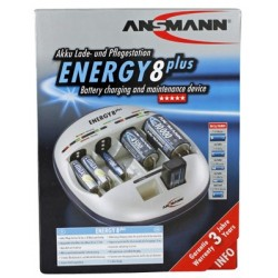 Ansmann Energy 8 Plus Universeellader voor AA/AAA/C/D