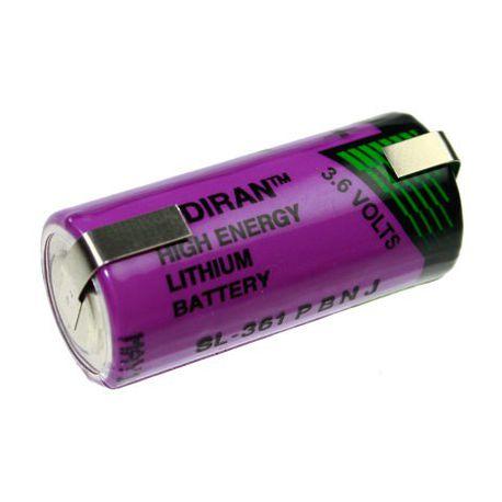 Tadiran lithium 3.6V SL361/T 2/3AA met soldeerlippen
