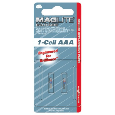 Maglite Solitaire vervangingslamp 2 stuks