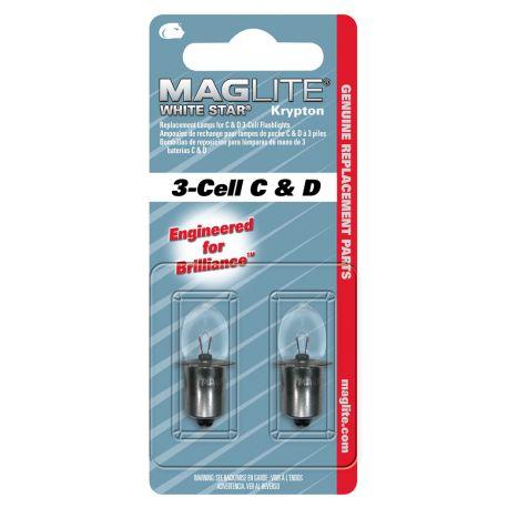 Maglite Krypton vervangingslamp 3D/C 2 stuks