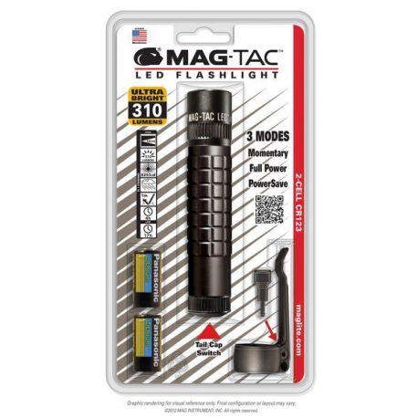 Maglite MAG-TAC Plain Bezel LED zwart incl.2/CR123