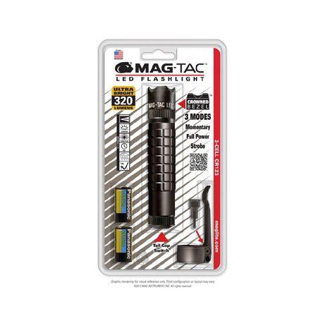 Maglite MAG-TAC Crowned Bezel LED zwart incl.2/CR123