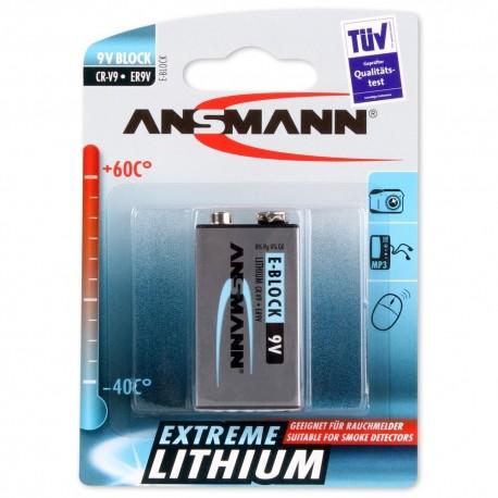 Ansmann Lithium 9.0V. 6FR61 t.b.v. rookmelders