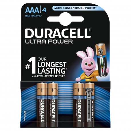 Duracell Ultra Power MX2400 AAA blister 4