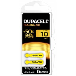 Duracell DA10 Geel hoortoestelbatterij blister 6