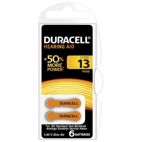 Duracell DA13 Oranje hoortoestelbatterij blister 6
