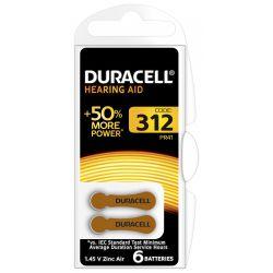 Duracell DA312 Bruin hoortoestelbatterij blister 6
