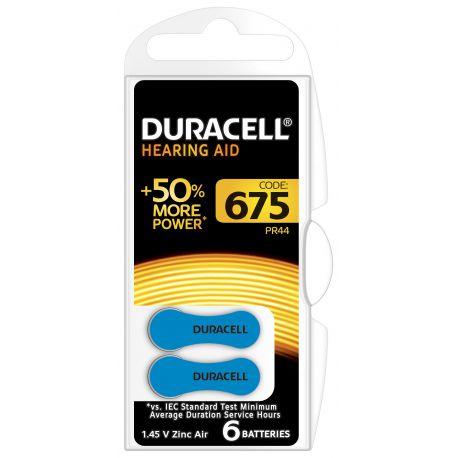 Duracell DA675 Blauw hoortoestelbatterij blister 6