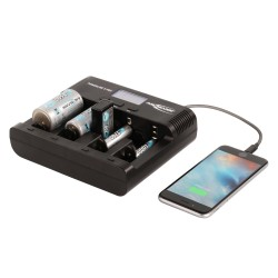 Ansmann Powerline 5 Pro Multi Charger met LCD scherm 12/220V.