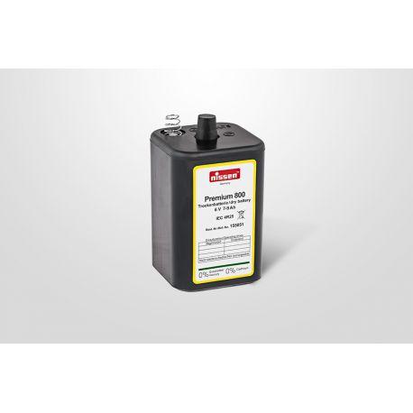 Nissen Premium 800 blokbatterij 4R25 6 volt 7-9 Ah met veerkontakt