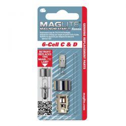 Maglite Xenon vervangingslamp 6D 1stuk op blister