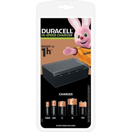 Duracell CEF22 Universeellader/Multisnelader voor AA/AAA/C/D en 9V.