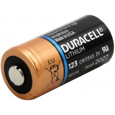 Duracell DL123A/CR123 Lithium 3,0V. bulk doos a 400 stuks