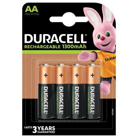 Duracell HR6 AA 1300mAh NiMh blister 4