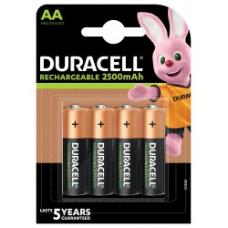 Duracell DX1500 AA NiMh Stay Charged 2500mAh blister 4