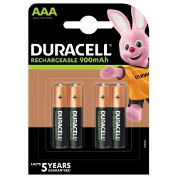 Duracell DX2400 AAA NiMh Stay Charged 900 mAh blister 4