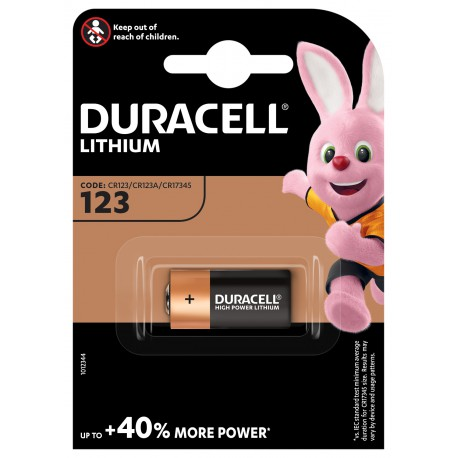 Duracell DL 123 Lithium 3 volt blister 1