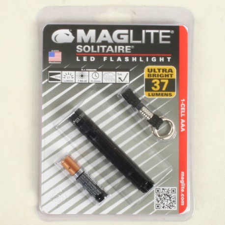 Maglite Solitaire LED zwart in blister incl.1/AAA